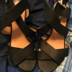 Black Open-Toe Heel
